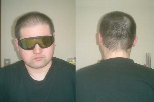 五分刈り、洗髪後。