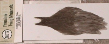 Fly Tying Dyed Black Hen Neck cape