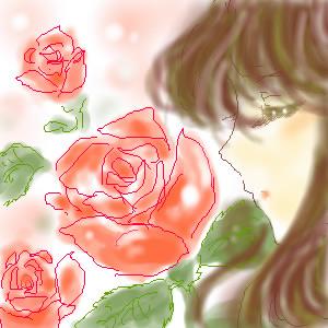 バラの絵のハズ