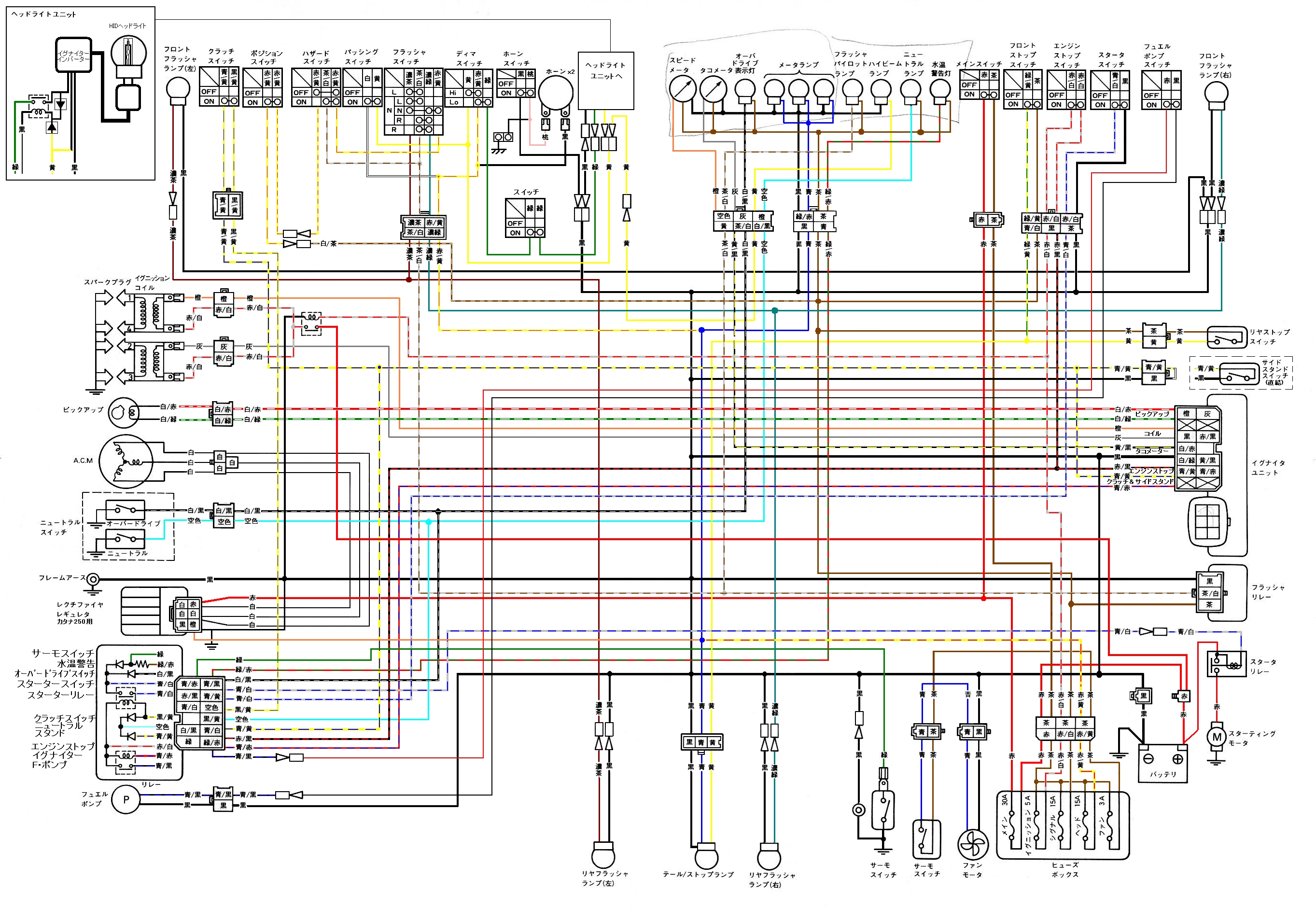 Wr250x Wiring Diagram Great Design Of Yamaha Wr250r Xv 250 Virago Basic Electrical Diagrams Symbols